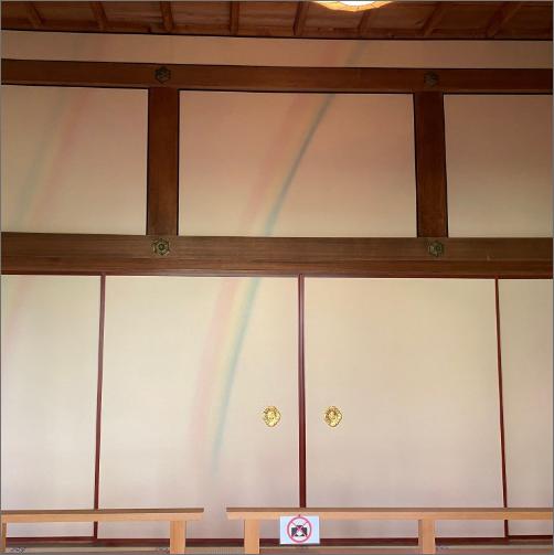 京都・大原にある天台宗三千院「虹の間」の下村観山筆襖絵の複製製作を手がけました